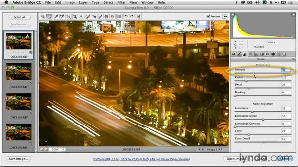 Reducing noise with Adobe Camera Raw: Creating Time-Lapse Video