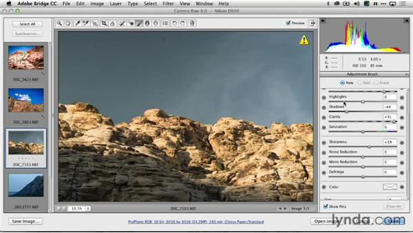 Stylizing the image with Adobe Camera Raw: Creating Time-Lapse Video