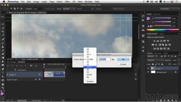 Refining the duration and frame rate: Creating Time-Lapse Video