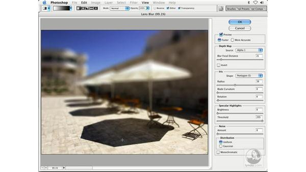 lens blur in action: Enhancing Digital Photography with Photoshop CS