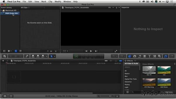 Importing the image sequence: Creating Time-Lapse Video