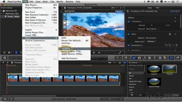 Exporting the time-lapse sequence: Creating Time-Lapse Video
