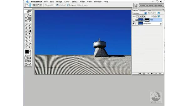 blending 1 - barn roof: Enhancing Digital Photography with Photoshop CS