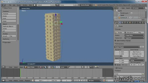 Getting ready to use the Bullet engine: Creating Rigid Body Simulations in Blender