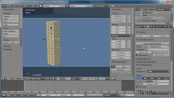 Setting up our objects for simulation: Creating Rigid Body Simulations in Blender