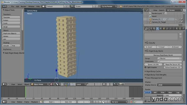 Setting up the physics world: Creating Rigid Body Simulations in Blender