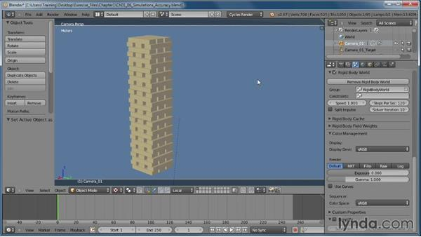 Improving our simulation's accuracy: Creating Rigid Body Simulations in Blender