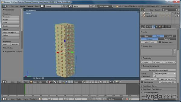 Creating an initial state for our simulation: Creating Rigid Body Simulations in Blender