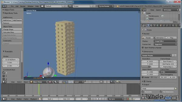 Creating an animated rigid body: Creating Rigid Body Simulations in Blender