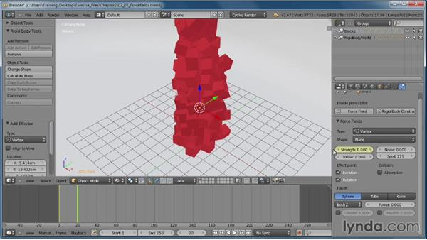 Adding a force field to the mix: Creating Rigid Body Simulations in Blender