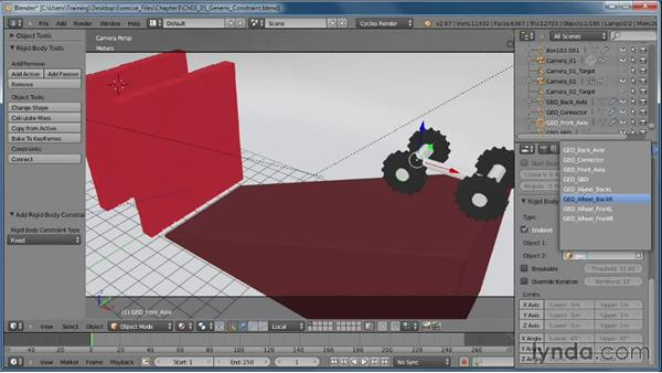 The Generic constraint: Creating Rigid Body Simulations in Blender