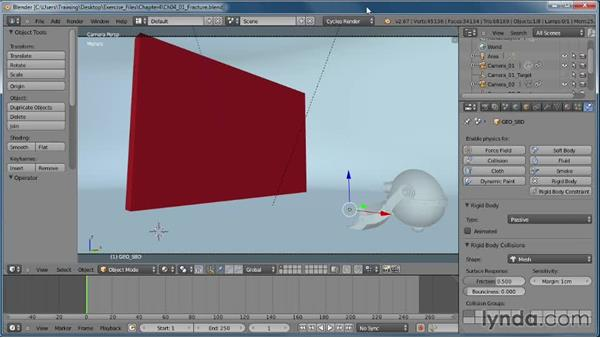 Enabling the Cell Fracture add-on: Creating Rigid Body Simulations in Blender