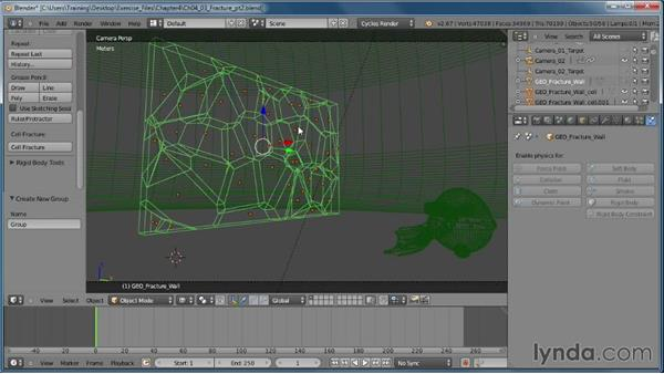 Using an object's vertices: Creating Rigid Body Simulations in Blender