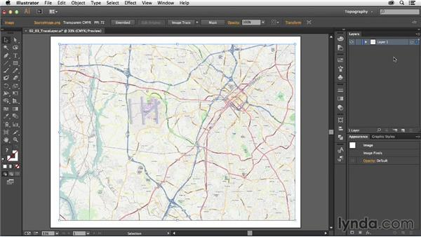 Creating a tracing template: Creating a Map with Illustrator