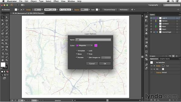 Creating base layers: Creating a Map with Illustrator
