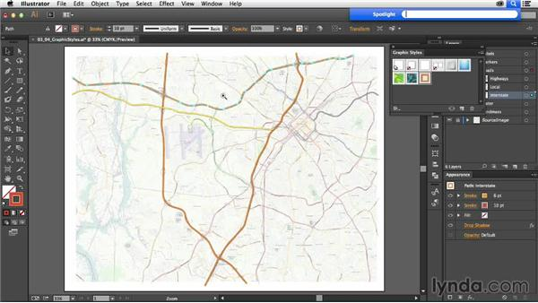 Using graphic styles: Creating a Map with Illustrator