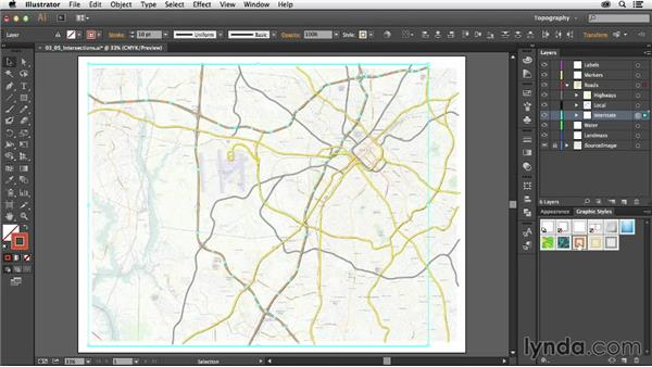 Handling intersections: Creating a Map with Illustrator