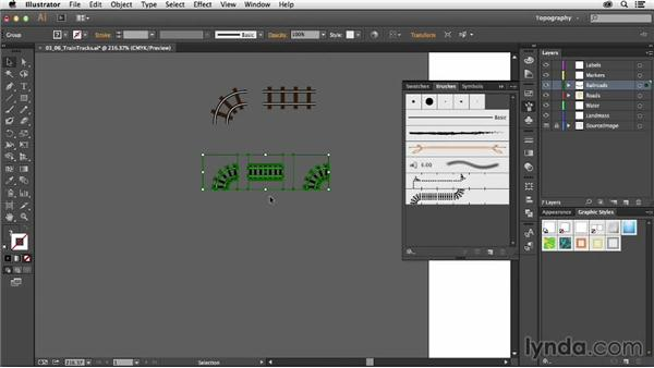 Creating train tracks: Creating a Map with Illustrator