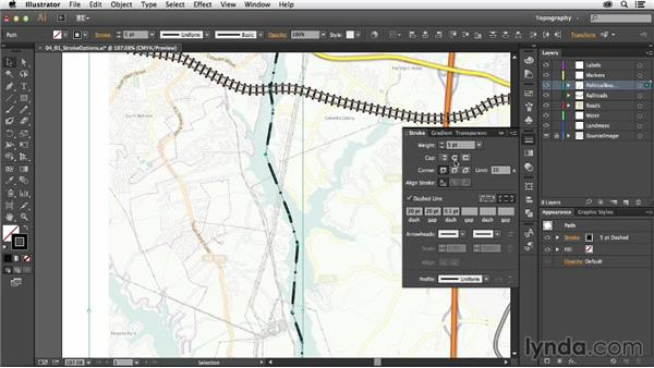 Stroke options: Creating a Map with Illustrator