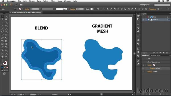 Using blends for bodies of water: Creating a Map with Illustrator