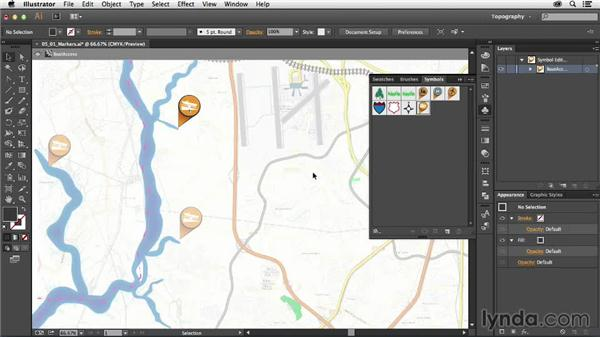 Adding highways and point-of-interest markers: Creating a Map with Illustrator