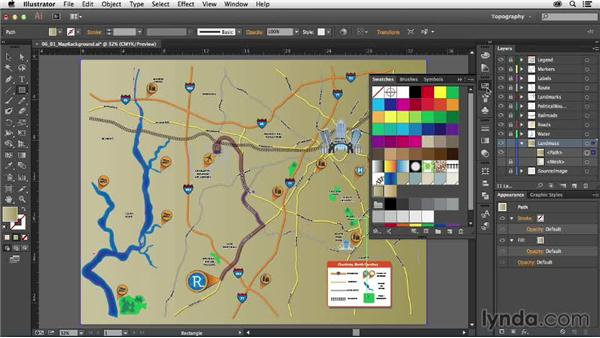 Creating a background for your map: Creating a Map with Illustrator