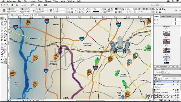 Placing the map in InDesign: Creating a Map with Illustrator