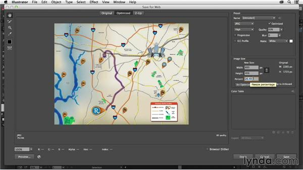 Sharing the map online: Creating a Map with Illustrator