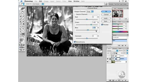 BW with channel mixer: Enhancing Digital Photography with Photoshop CS