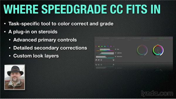 Where does SpeedGrade fit in a post-production workflow?: Up and Running with SpeedGrade CC