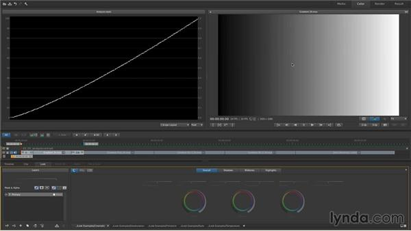 Using analysis tools to evaluate contrast and exposure: Up and Running with SpeedGrade CC