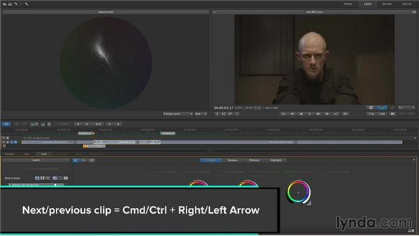 Using analysis to evaluate color: Up and Running with SpeedGrade CC
