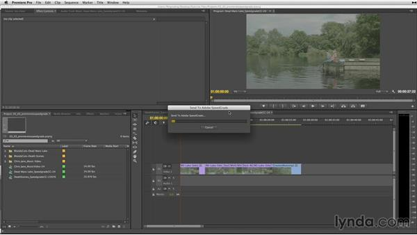 Sending a sequence from Premiere Pro to SpeedGrade: Up and Running with SpeedGrade CC