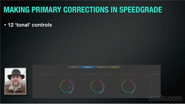 Colorist lingo: What is a primary correction?: Up and Running with SpeedGrade CC