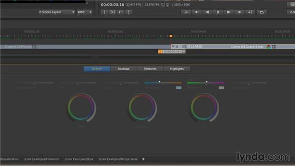 Using the slider controls: Up and Running with SpeedGrade CC