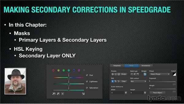 Colorist lingo: What is a secondary correction?: Up and Running with SpeedGrade CC