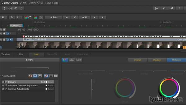 Tracking masks and using the keyframing controls: Up and Running with SpeedGrade CC