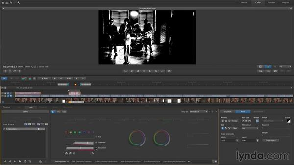 Pulling HSL keys and limiting with masks: Up and Running with SpeedGrade CC