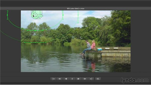 Using a mask with a sky correction: Up and Running with SpeedGrade CC