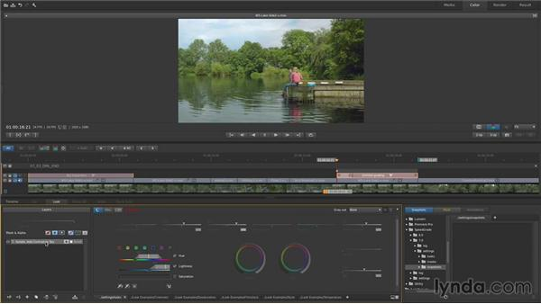 Copying corrections from one shot to another: Up and Running with SpeedGrade CC