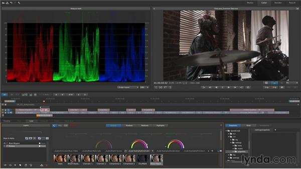 Saving and applying looks using the Look Manager and Look presets: Up and Running with SpeedGrade CC
