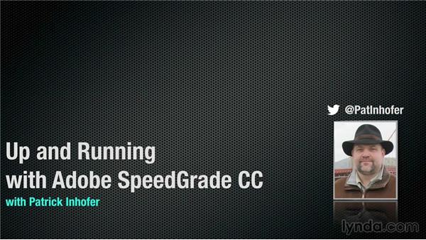 Goodbye: Up and Running with SpeedGrade CC