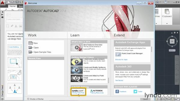 Launching the application: AutoCAD 2014 Essentials: 01 Interface and Drawing Management