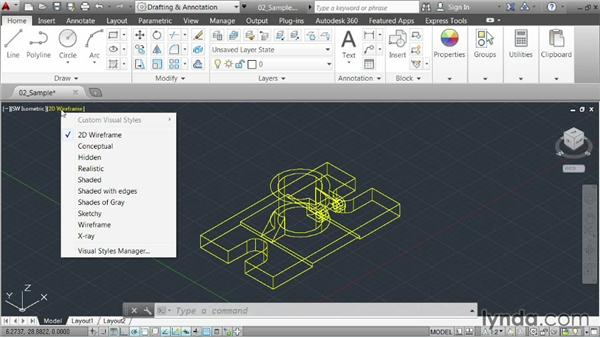 Understanding model space: AutoCAD 2014 Essentials: 01 Interface and Drawing Management