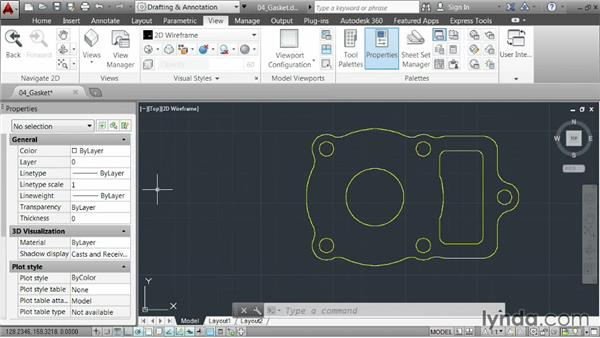 Leveraging dockable palettes: AutoCAD 2014 Essentials: 01 Interface and Drawing Management