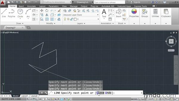 Understanding the anatomy of a command: AutoCAD 2014 Essentials: 01 Interface and Drawing Management