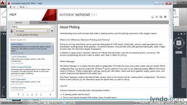 Accessing help: AutoCAD 2014 Essentials: 01 Interface and Drawing Management