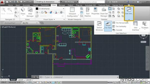 Working in a multiple-document environment: AutoCAD 2014 Essentials: 01 Interface and Drawing Management