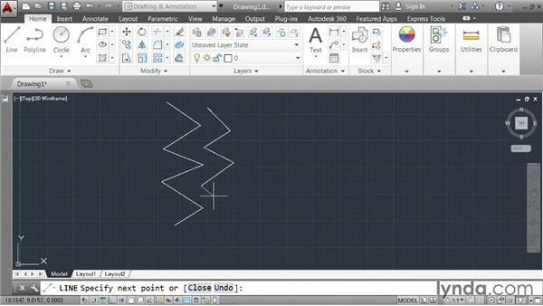 Moving forward: AutoCAD 2014 Essentials: 01 Interface and Drawing Management