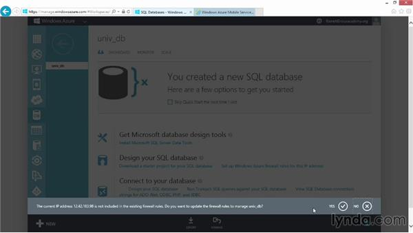 Logging and scaling your mobile service: Up and Running with Azure